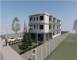 Teren 1300mp Tunari cu autorizare construire bloc 14 apartamente