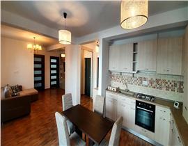 Apartament 3 camere in vila, curte 107 mp si 2 locuri parcare, mobilat