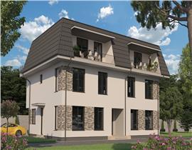 Apartament 2 camere Otopeni, terase panoramic 26mp, loc parcare inclus
