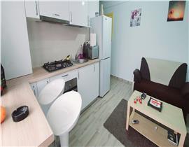 Studio Otopeni, utilat si mobilat, dormitor separat, AC, spațios 36.40mp, parcare