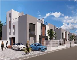 Apartament duplex 155mp, terasa 11mp, curte 73mp, 3bai