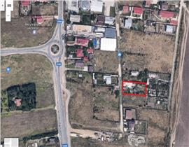 Casa batraneasca la intrare in Tunari, teren 1000mp, asfalt