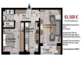 Apartament 2 camere Otopeni, acces securizat, loc de joaca, central