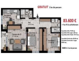 Apartament 3 camere Otopeni, central, loc de joaca, acces securizat
