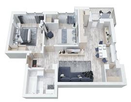 Apartament 3 camere Aviator Residence 2, central, langa parc, parcare